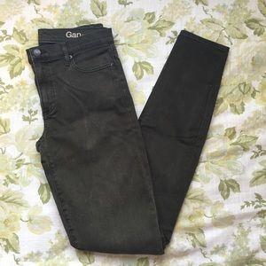 GAP 'Resolution True Skinny' Olive Jeans (TALL)